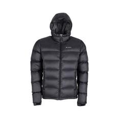 Macpac Men's Hooded Halo Down Jacket, Black, bcf_hi-res