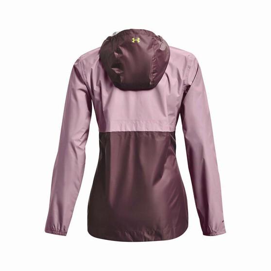 Under Armour Women's Cloudstrike Shell Rain Jacket, Mauve Pink / Ash Plum, bcf_hi-res