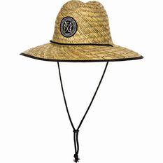 BCF Threads Men's Classic Straw Hat Natural / Black 58, Natural / Black, bcf_hi-res