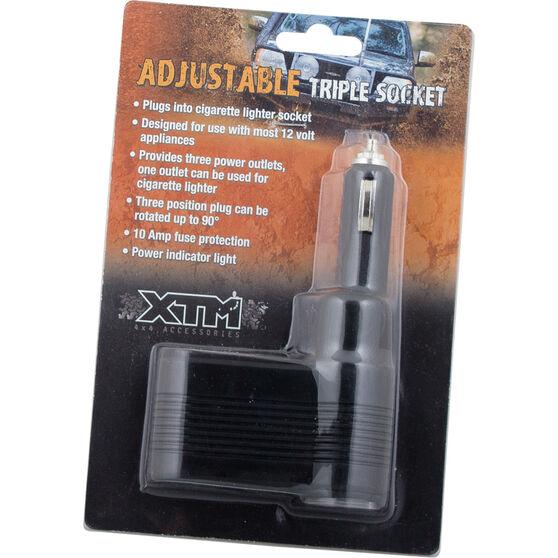 XTM Triple Adjustable Socket 12V 10A, , bcf_hi-res