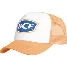 BCF Unisex Trucker Cap White / Orange OSFM, White / Orange, bcf_hi-res