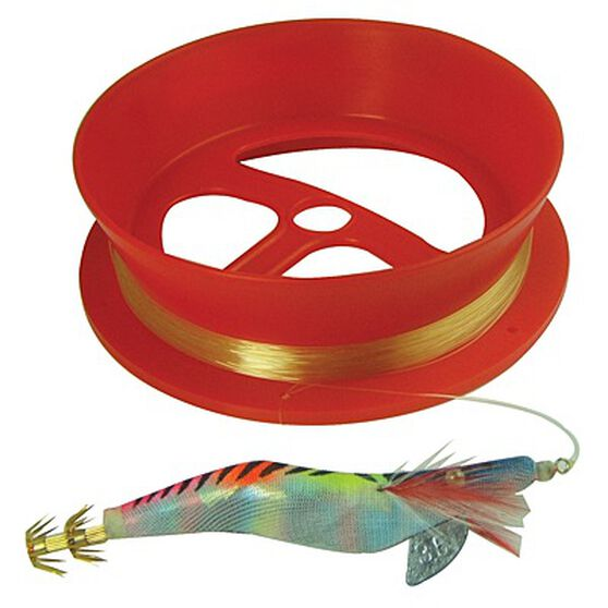 Neptune Handcaster Pre-Rigged Hand Reel Squid 6in, , bcf_hi-res