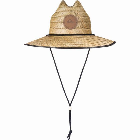 Quiksilver Unisex Dredge Waterman Straw Hat Natural S / M, Natural, bcf_hi-res