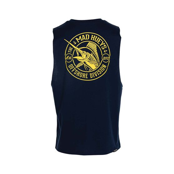 The Mad Hueys Men's The Catch UV Muscle Tank, Navy, bcf_hi-res