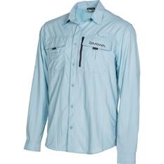 Daiwa Men's Long Sleeve Fishing Shirt, Blue, bcf_hi-res