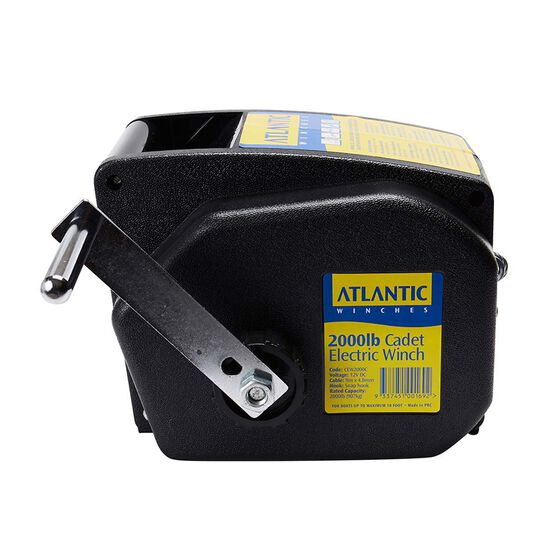 Atlantic Electric Trailer Winch 2000lb 9m x 4.5mm, , bcf_hi-res