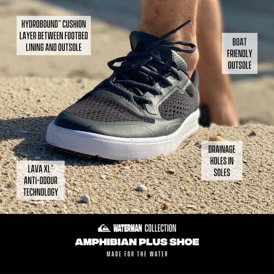 Quiksilver Waterman Men's Amphibian Plus II Shoes, Black / Grey, bcf_hi-res