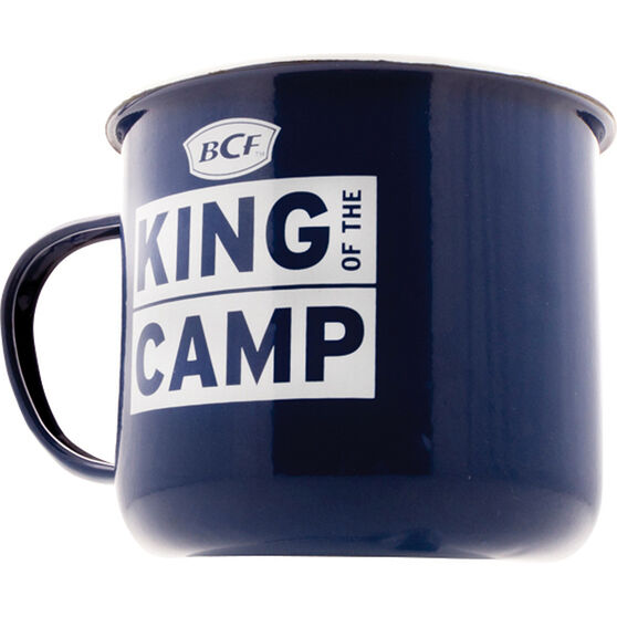 King of the Camp Mansize Enamel Mug 1100ml, , bcf_hi-res