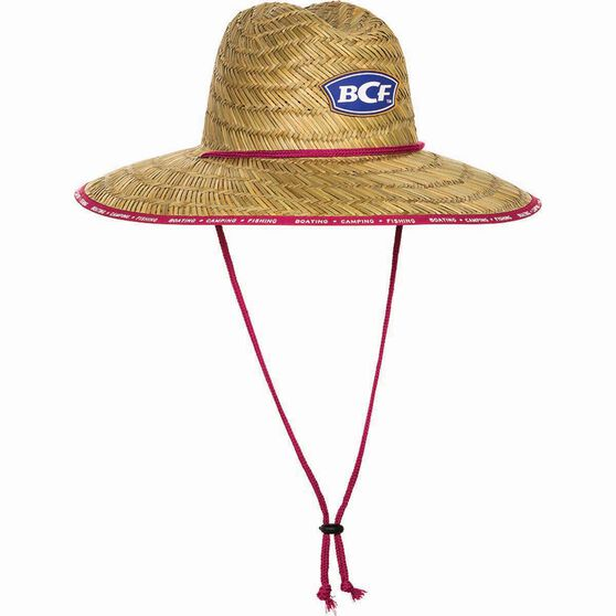 BCF Straw Hat Pink 54cm, Pink, bcf_hi-res