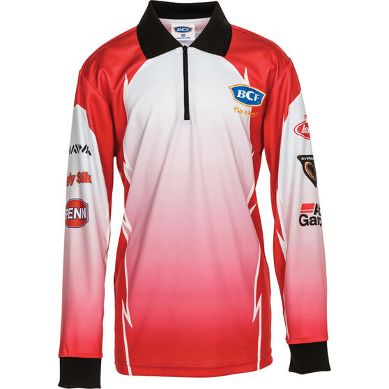BCF Kids' Corporate Sublimated Polo, Red, bcf_hi-res