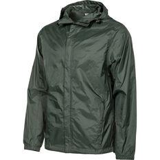 OUTRAK Men's Packaway Rain Jacket Thyme S, Thyme, bcf_hi-res