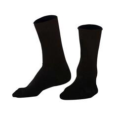 Tradie Men's Hiking Bamboo Socks Black 7-10, Black, bcf_hi-res