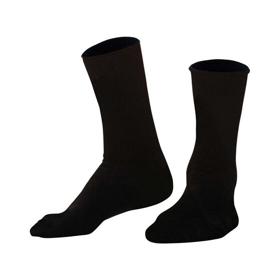 Tradie Men's Hiking Bamboo Socks, Black, bcf_hi-res