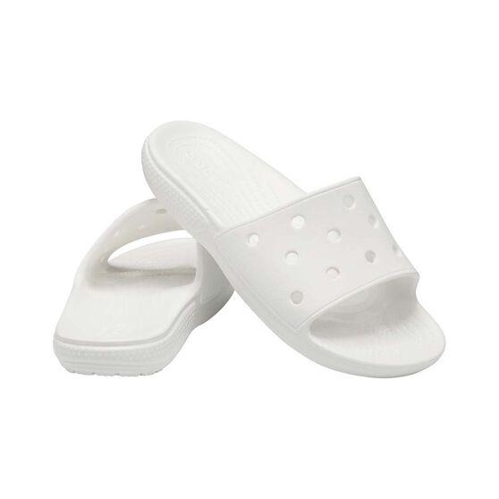 Crocs Unisex Classic Slide, White, bcf_hi-res