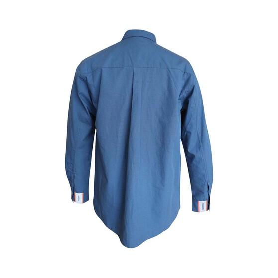 Tradie Men's Ripstop Fishing Shirt, Steel Grey, bcf_hi-res