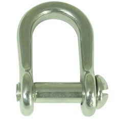 Stainless Steel D Shackle Slot Head, , bcf_hi-res