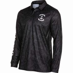 The Mad Hueys Men's Stealth Anchor UV Fishing Jersey Black S, Black, bcf_hi-res