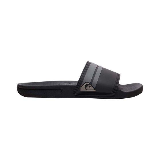 Quiksilver Waterman Men's Rivi Slide, Black / Grey, bcf_hi-res