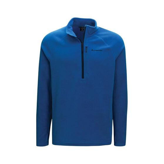 Macpac Men's Tui Fleece Pullover, Classic Blue, bcf_hi-res