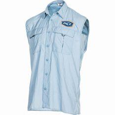 BCF Men's Sleeveless Fishing Shirt Spray S, Spray, bcf_hi-res
