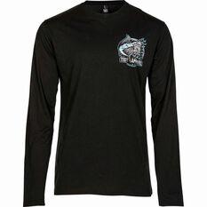 Men's Club Long Sleeve Tee Black S, Black, bcf_hi-res