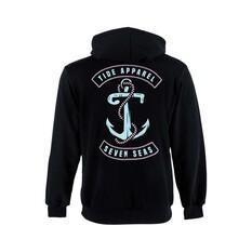 Tide Apparel Womens Seven Seas Hoody Black 8, Black, bcf_hi-res