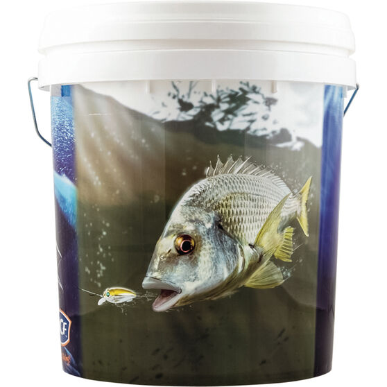 BCF Medium Printed Bait Bucket, , bcf_hi-res