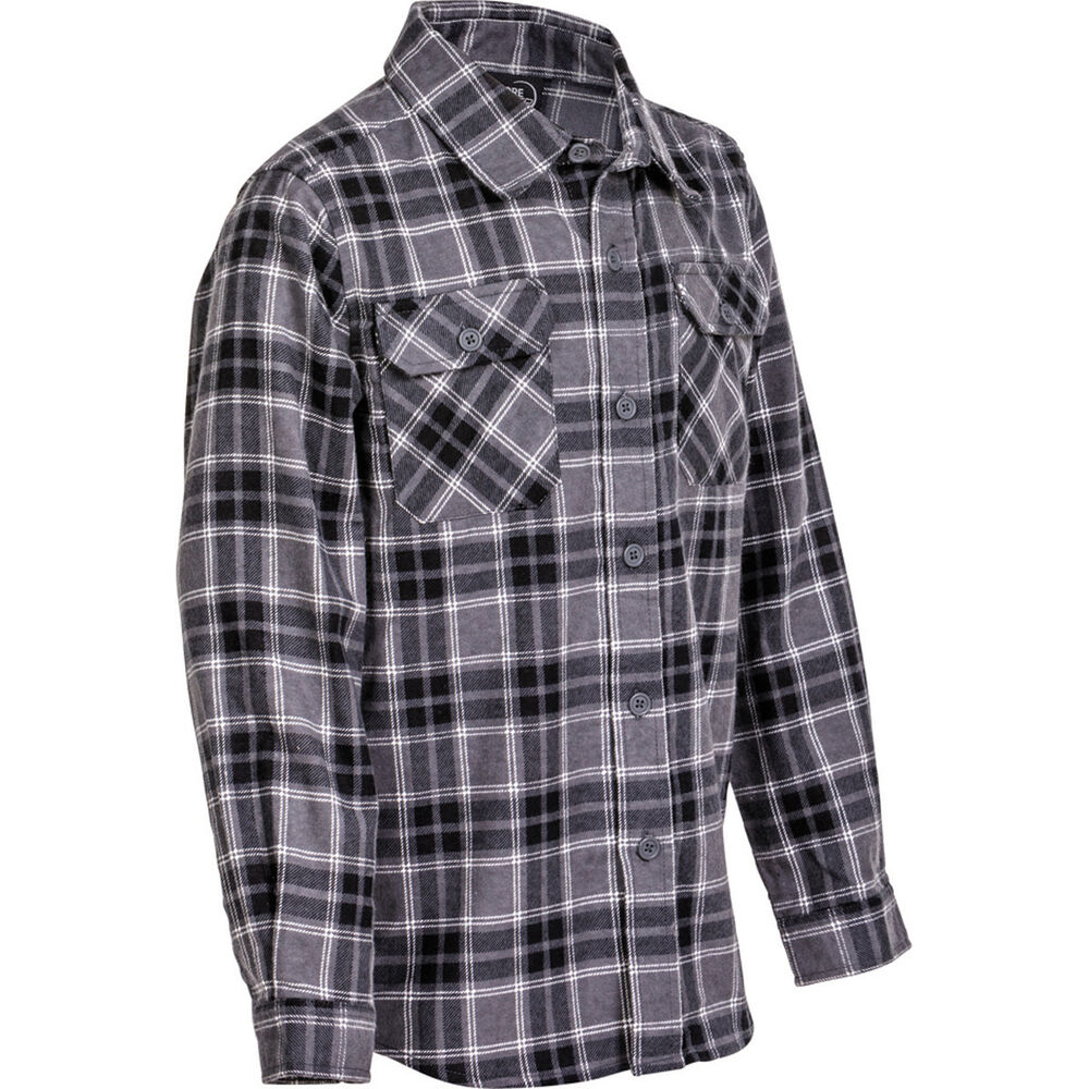 f5bbf712960 Explore 360 Kids  Flannel Long Sleeve Shirt Black 10