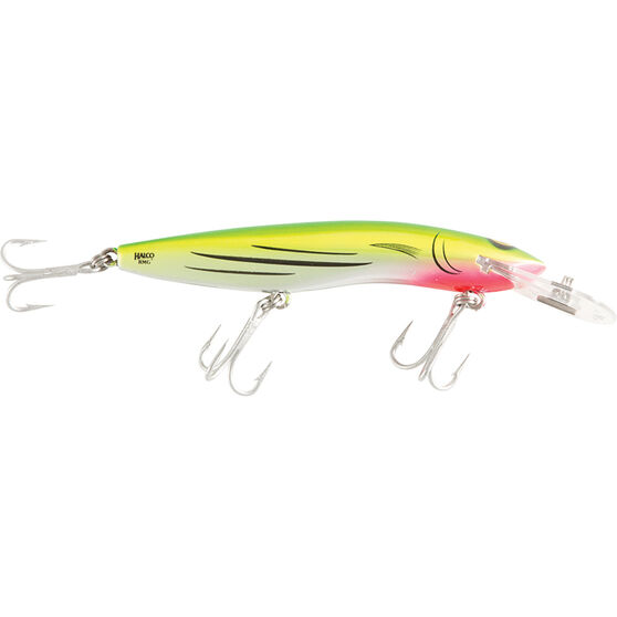 RMG Scorpion Double Deep Hard Body Lure 125mm Liquid Lime 125mm, Liquid Lime, bcf_hi-res