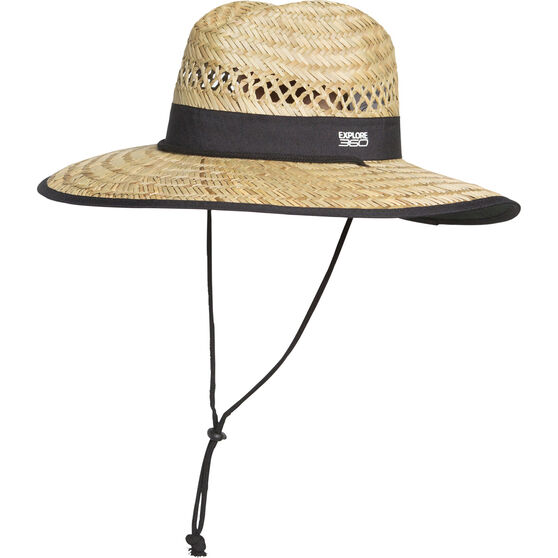 Explore 360 Unisex Logo Straw Hat, Natural, bcf_hi-res