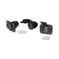 BEP USB Power Sockets x 2 - Front Mount, , bcf_hi-res