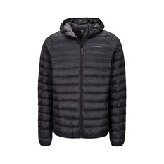 Macpac Mens Uber Light Hooded Jacket Black S, Black, bcf_hi-res