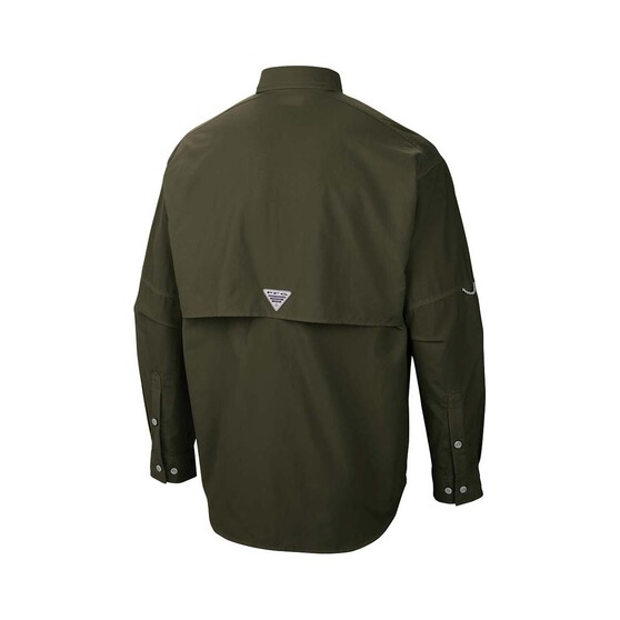 Columbia Men's Bahama II Long Sleeve Shirt Alpine Tundra M, Alpine Tundra, bcf_hi-res