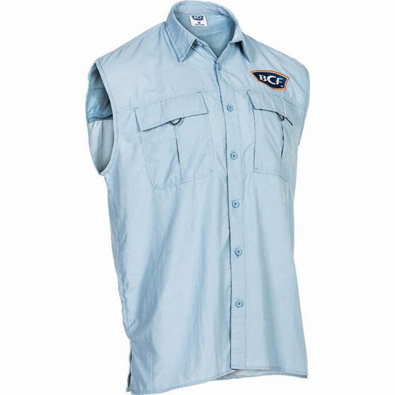 BCF Men's Sleeveless Fishing Shirt Spray XL, Spray, bcf_hi-res