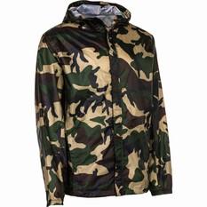 OUTRAK Printed Packaway Rain Jacket, Camo, bcf_hi-res