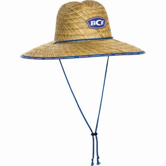 BCF Straw Hat Blue 54cm, Blue, bcf_hi-res