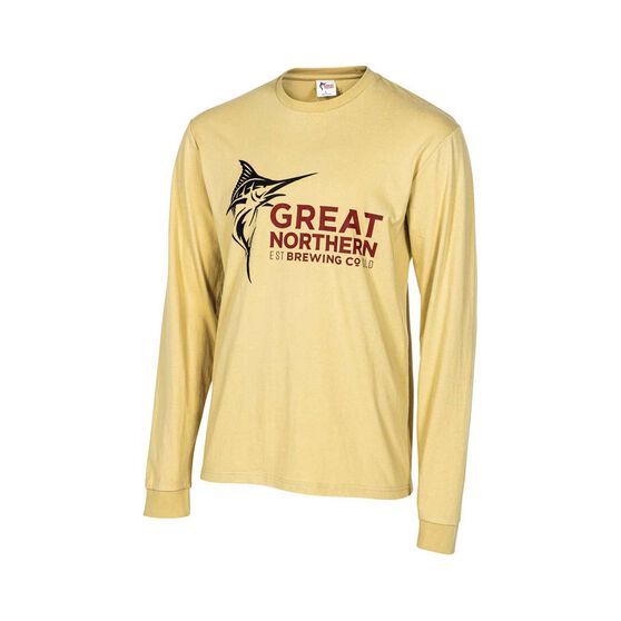 Great Northern Brewing Co. Men's Long Sleeve Tee Light Sand XL, Light Sand, bcf_hi-res