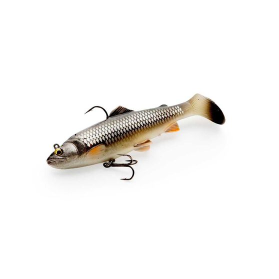 Savage 3D Trout Rattle Shad Swim Bait Lure - 12.5cm Dirty Silver Mullet, Dirty Silver Mullet, bcf_hi-res