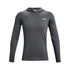 Under Armour Men's Isochill Shorebreak Hooded Sublimated Shirt Pitch Gray / Mod Grey S, Pitch Gray / Mod Grey, bcf_hi-res