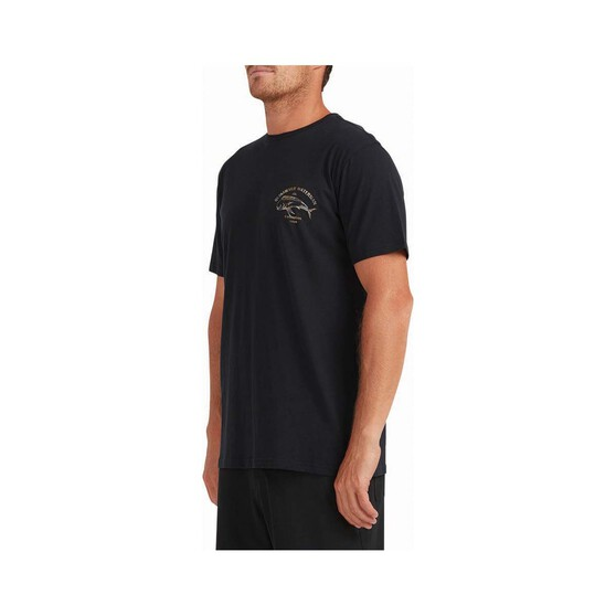 Quiksilver Waterman Men's Mahi Tiger Short Sleeve Tee, Black, bcf_hi-res