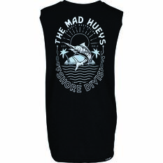 The Mad Hueys Kids Can Crusher UV Muscle Tank Black 8, Black, bcf_hi-res