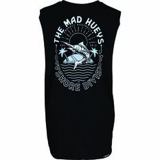 The Mad Hueys Kids Can Crusher UV Muscle Tank Black 8, Black, bcf_hi-res