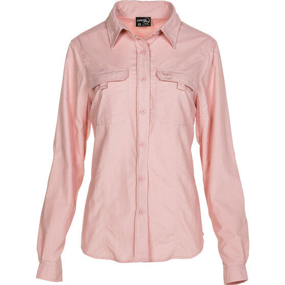 Explore 360 Women's Vented Long Sleeve Shirt Pink 12, Pink, bcf_hi-res