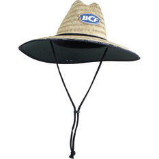 BCF Unisex Brand Straw Hat, Natural, bcf_hi-res