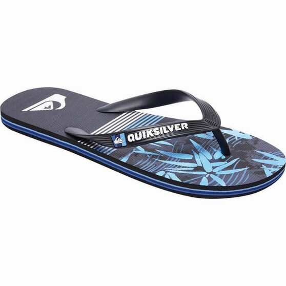Quiksilver Men's Molokai Zen Thongs, Black / Blue, bcf_hi-res