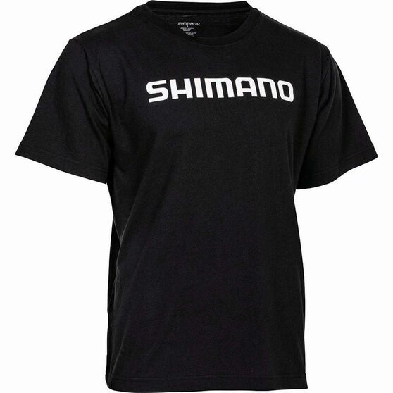 Shimano Men's Corporate Tee Black S, Black, bcf_hi-res