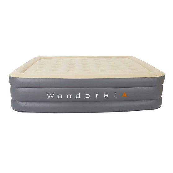 Wanderer Double High Premium Air Bed with Pump Queen, , bcf_hi-res
