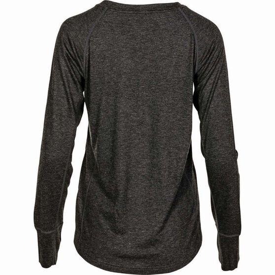 OUTRAK Unisex Merino Blend Long Sleeve Top, Charcoal, bcf_hi-res