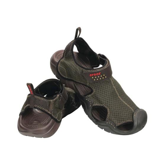 Crocs Men's Swiftwater Sandal, Espresso, bcf_hi-res