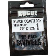 Rogue Black Coastlock Snap 10 Pack, , bcf_hi-res